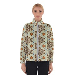 Stars And Other Shapes Pattern                               Winter Jacket