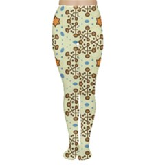 Stars And Other Shapes Pattern                               Tights