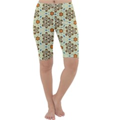 Stars And Other Shapes Pattern                               Cropped Leggings