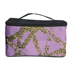 Modern,abstract,hand Painted, Gold Lines, Pink,decorative,contemporary,pattern,elegant,beautiful Cosmetic Storage Case