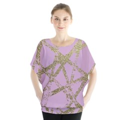 Modern,abstract,hand Painted, Gold Lines, Pink,decorative,contemporary,pattern,elegant,beautiful Blouse
