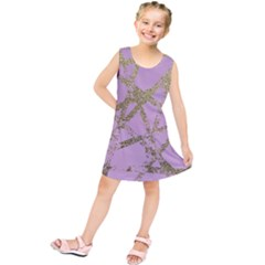 Modern,abstract,hand Painted, Gold Lines, Pink,decorative,contemporary,pattern,elegant,beautiful Kids  Tunic Dress