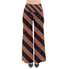 Stripes3 Black Marble & Rusted Metal Pants