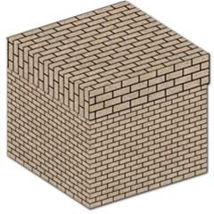 Brick1 Black Marble & Sand Storage Stool 12