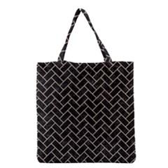 Brick2 Black Marble & Sand (r) Grocery Tote Bag