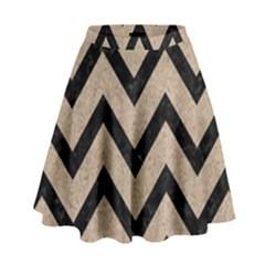 Chevron9 Black Marble & Sand High Waist Skirt