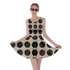 Circles1 Black Marble & Sand Skater Dress