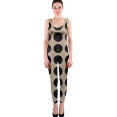 Circles1 Black Marble & Sand Onepiece Catsuit