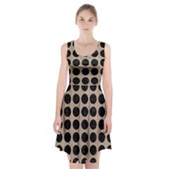 Circles1 Black Marble & Sand Racerback Midi Dress