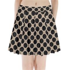 Circles2 Black Marble & Sand Pleated Mini Skirt