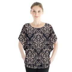 Damask1 Black Marble & Sand (r) Blouse