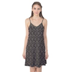 Hexagon1 Black Marble & Sand (r) Camis Nightgown