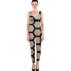 Hexagon2 Black Marble & Sand Onepiece Catsuit