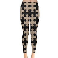 Puzzle1 Black Marble & Sand Leggings