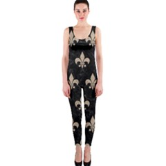 Royal1 Black Marble & Sand Onepiece Catsuit