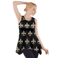 Royal1 Black Marble & Sand Side Drop Tank Tunic