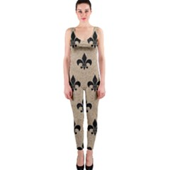 Royal1 Black Marble & Sand (r) Onepiece Catsuit