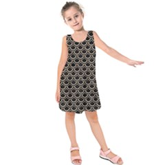 Scales2 Black Marble & Sand (r) Kids  Sleeveless Dress
