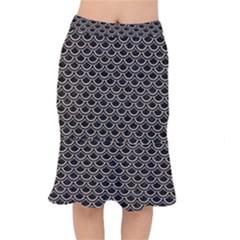 Scales2 Black Marble & Sand (r) Mermaid Skirt