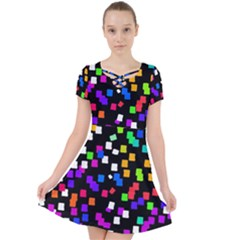 Colorful Rectangles On A Black Background                              Caught In A Web Dress