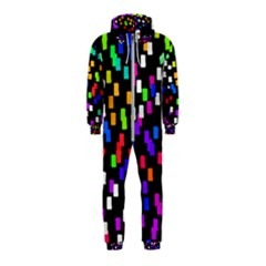 Colorful Rectangles On A Black Background                                 Hooded Jumpsuit (kids)