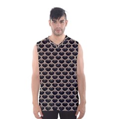 Scales3 Black Marble & Sand (r) Men s Basketball Tank Top
