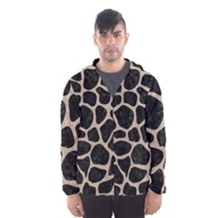 Skin1 Black Marble & Sand Hooded Wind Breaker (men)