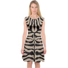 Skin2 Black Marble & Sand Capsleeve Midi Dress