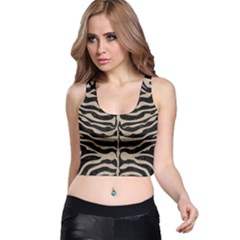 Skin2 Black Marble & Sand (r) Racer Back Crop Top