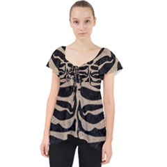 Skin2 Black Marble & Sand (r) Lace Front Dolly Top
