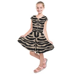 Skin2 Black Marble & Sand (r) Kids  Short Sleeve Dress