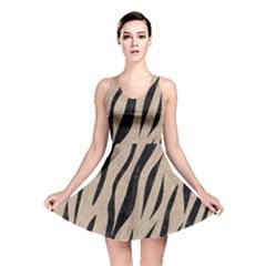 Skin3 Black Marble & Sand Reversible Skater Dress