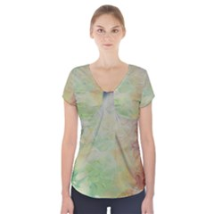 Painted Canvas                                    Short Sleeve Front Detail Top