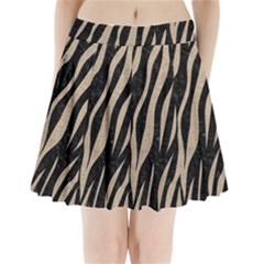 Skin3 Black Marble & Sand (r) Pleated Mini Skirt