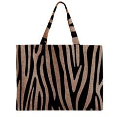 Skin4 Black Marble & Sand Zipper Mini Tote Bag