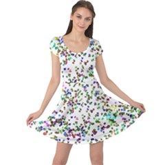 Paint On A White Background                                 Cap Sleeve Dress