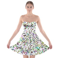 Paint On A White Background                                  Strapless Bra Top Dress
