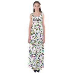 Paint On A White Background                             Empire Waist Maxi Dress