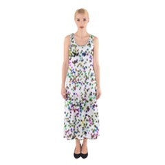 Paint On A White Background                                  Full Print Maxi Dress