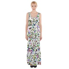 Paint On A White Background                                  Maxi Thigh Split Dress