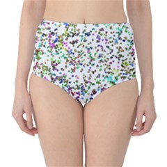 Paint On A White Background                                  High Waist Bikini Bottoms