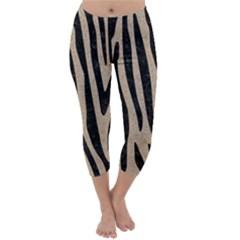 Skin4 Black Marble & Sand (r) Capri Winter Leggings