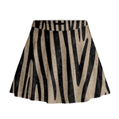 Skin4 Black Marble & Sand (r) Mini Flare Skirt