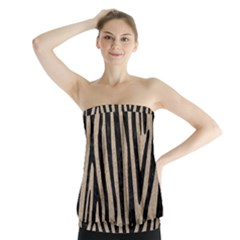 Skin4 Black Marble & Sand (r) Strapless Top