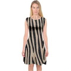 Skin4 Black Marble & Sand (r) Capsleeve Midi Dress