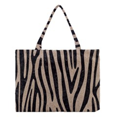 Skin4 Black Marble & Sand (r) Medium Tote Bag
