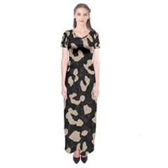 Skin5 Black Marble & Sand Short Sleeve Maxi Dress