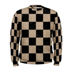 Square1 Black Marble & Sand Men s Sweatshirt