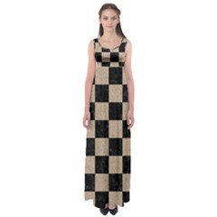 Square1 Black Marble & Sand Empire Waist Maxi Dress