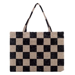 Square1 Black Marble & Sand Medium Tote Bag
